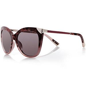 Katzenaugen-Sonnenbrille in Lila