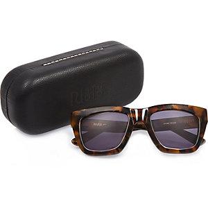 RI Studio brown print retro sunglasses