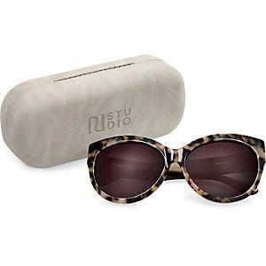 RI Studio brown print cat eye sunglasses