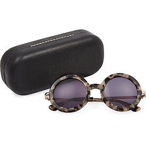 RI Studio cream print round sunglasses