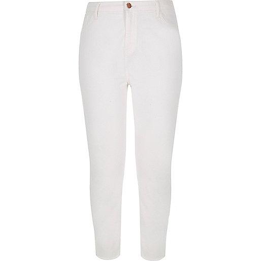 RI Plus white high rise Lori skinny jeans