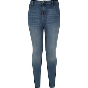 RI Plus mid blue wash Molly jeggings