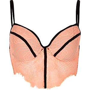 Coral lace bralet
