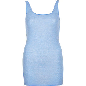 Light blue scoop neck tank