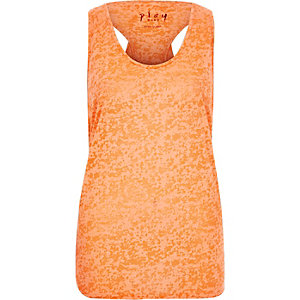 Coral double layer tank top