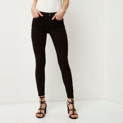 Amelie Zwarte superskinny jeans
