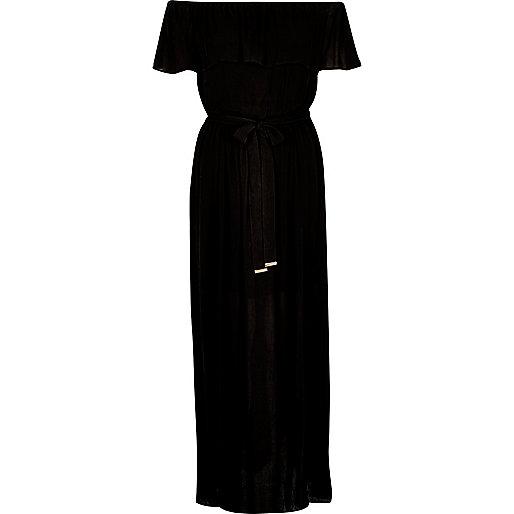 Black bardot maxi dress