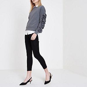Black high rise capri leggings