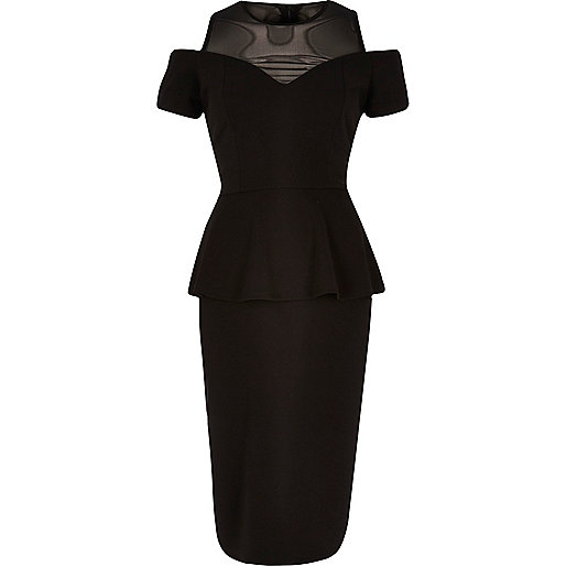 Black peplum dress