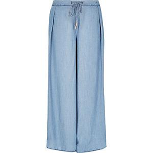 Light blue palazzo pants
