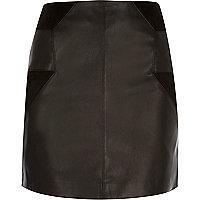 Minijupe noire style patchwork