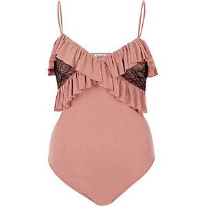 Light pink frill bodysuit