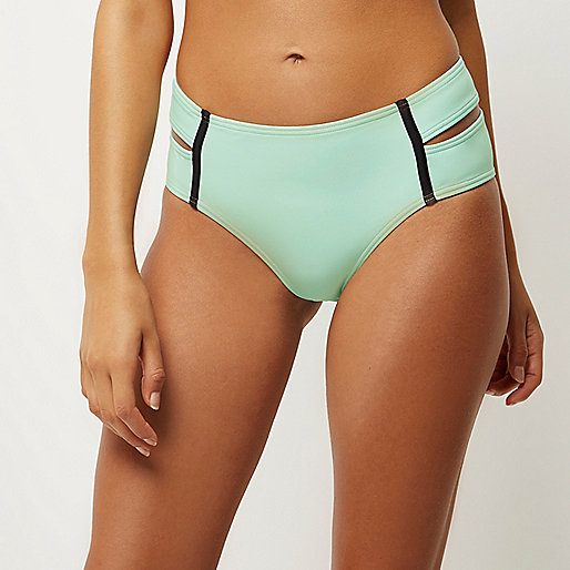 Light green double strap bikini bottoms