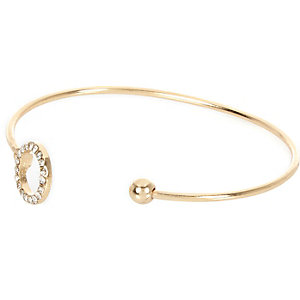 Gold tone embellished bangle