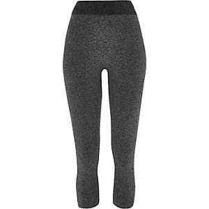 Grey jersey seamless high rise leggings
