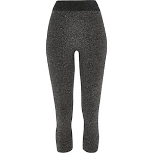 Grey jersey seamless high rise leggings