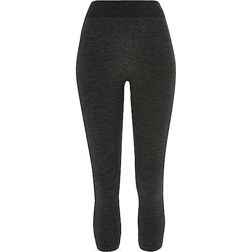 Khaki jersey seamless high rise leggings