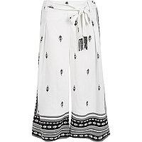 White print culottes