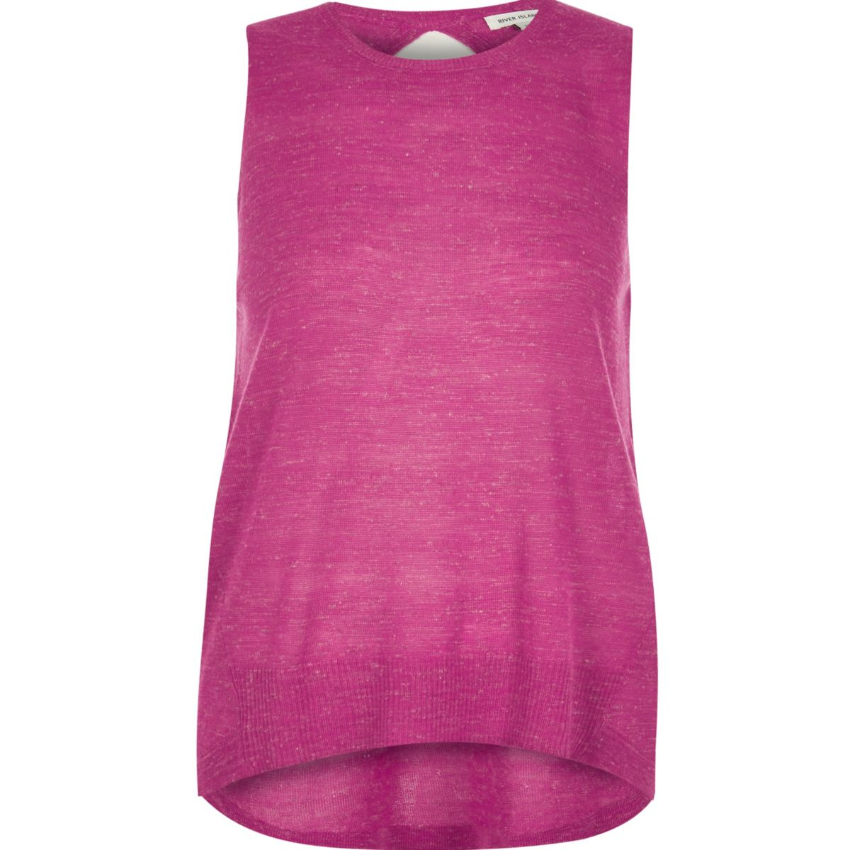Pink wrap back top