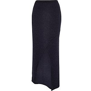 RI Plus blue wrap maxi skirt