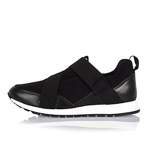 Black slip on sneakers