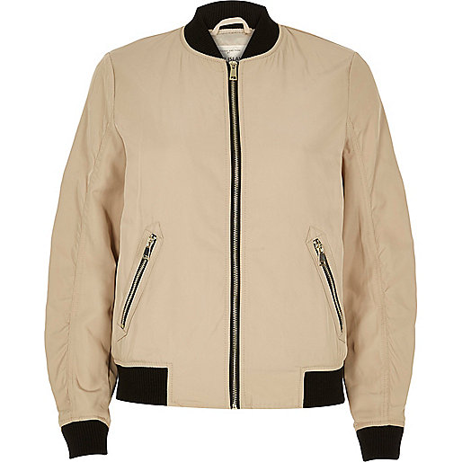 Beige bomber jacket - coats / jackets - sale - women