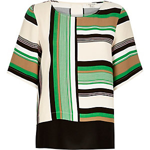 Green stripe t-shirt
