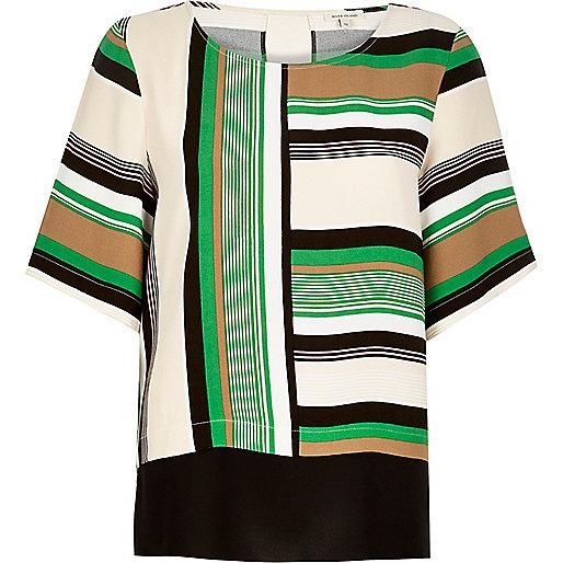 Green stripe t-shirt