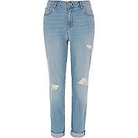 Ashley light blue wash ripped boyfriend jeans