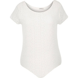 RI Plus cream lace bodysuit
