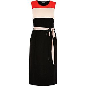 RI Plus black colourblock tunic