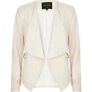 Cream draped blazer