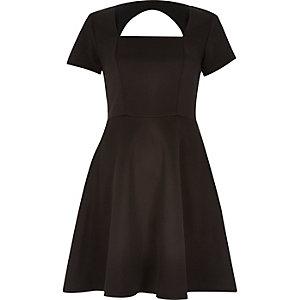 Black A-line dress