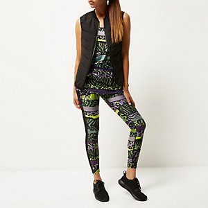 RI Active green print sports leggings