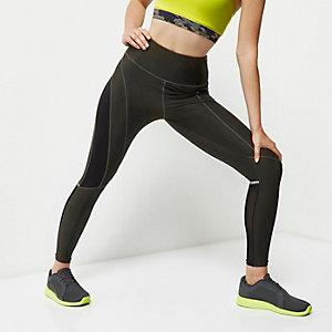 RI Active khaki mesh sports leggings