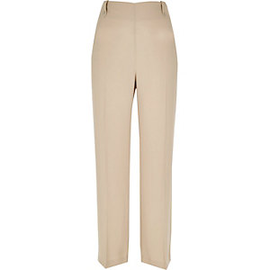 Latte brown straight trousers
