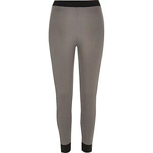 Grey panelled leggings