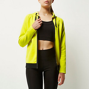 RI Active yellow workout hoodie
