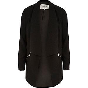 Black zip detail blazer