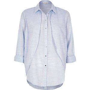 Blue cape shirt