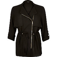 Black zipped lightweight jacket