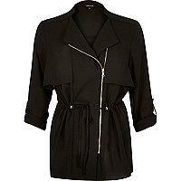 Veste noire zippée légère