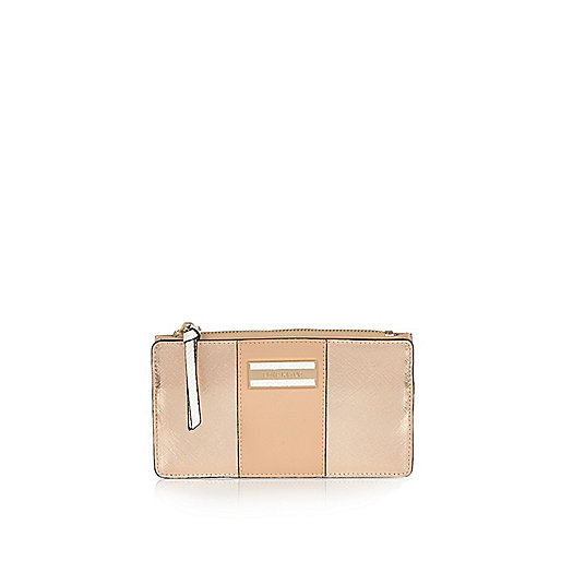 Rose gold fold out purse