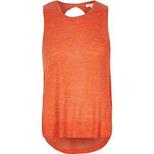 Orange wrap back top