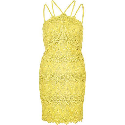 Yellow cornelli dress