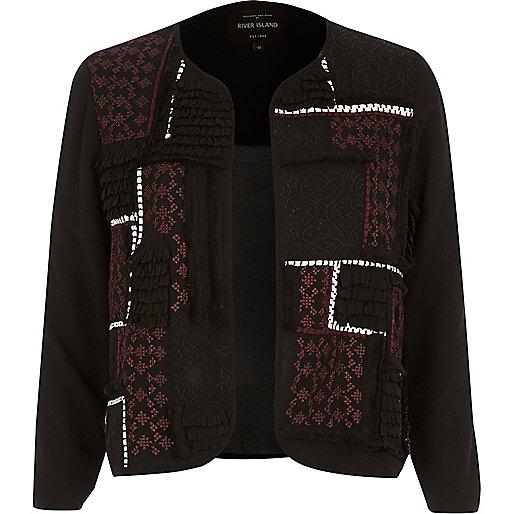 Black embroidered trophy jacket