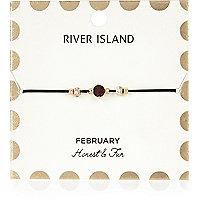 Purple February birthstone bracelet