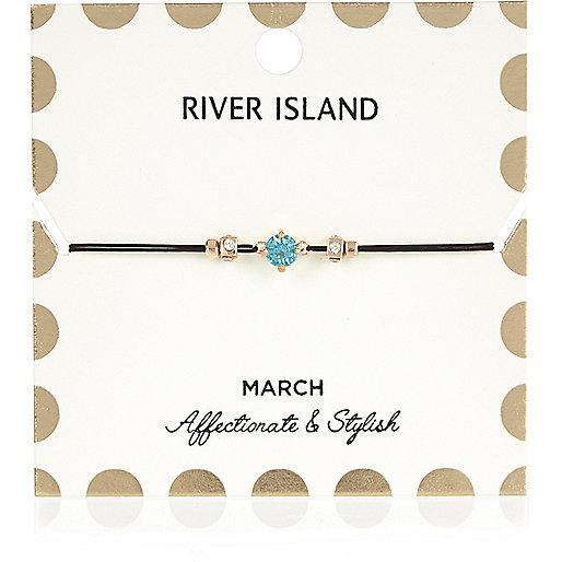 Blue March birthstone bracelet