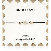 Armband mit weißem Geburtsstein aus dem Monat April