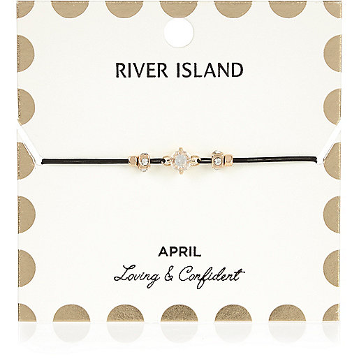 White April birthstone bracelet